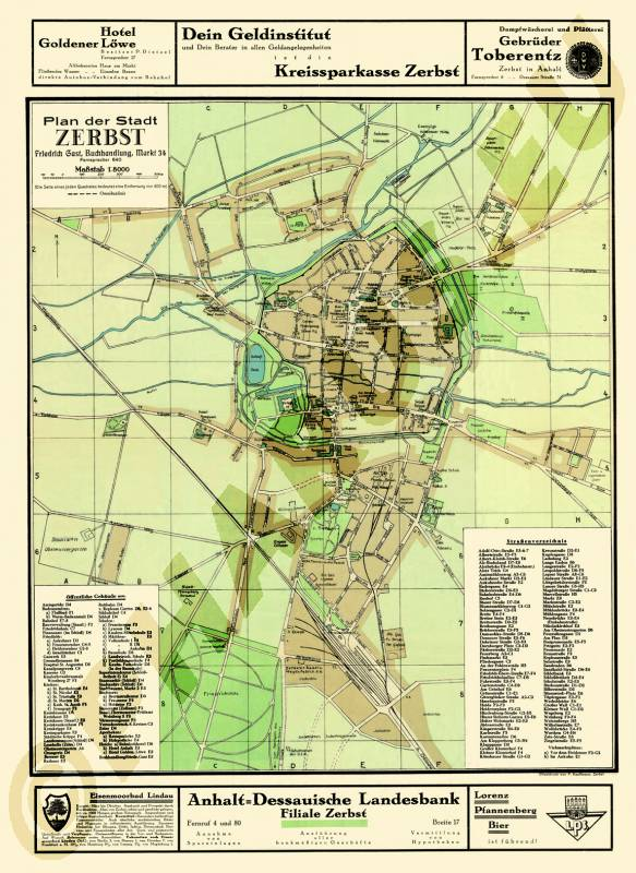 Maps of Dessau