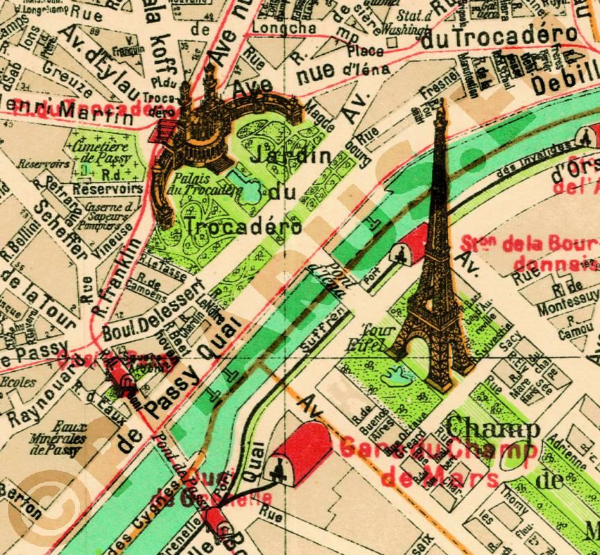Karte Paris Stadtplan.Pharus Pharus Historischer Stadtplan Paris 1912